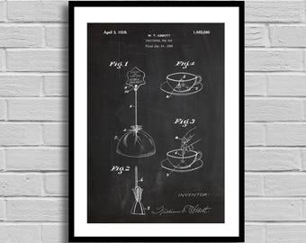 Tea bag Patent Tea Bag Patent Poster Tea Bag Blueprint Tea Bag Print Tea Decor Vintage Kitchen Decor Restaurant Decor Tea Party Tea p1053