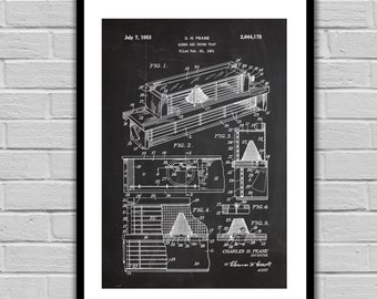 Queen and Drone Trap Patent Bee Hive Patent Bee Hive Poster Bee Hive Blueprint Bee Hive Print Bee Hive Art Bee Hive Decor p662