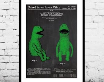 Kermit, Jim Henson Muppet Patent, Jim Henson Muppet Poster, Jim Henson Muppet Print, Jim Henson Muppet Art, Jim Henson Muppet p1129