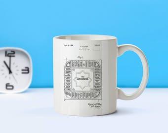 Landlord's Game patent mug  coffee mug  coffee lover  patent art  patent mug  Board games Toy collectibles Game decor VintageM166