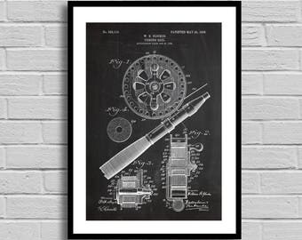 Fishing Reel Patent, Fishing Reel Patent Poster, Fishing Reel Blueprint, Fishing Reel Print, Fishing Gift,Fishing Decor,Gift for Him, p784