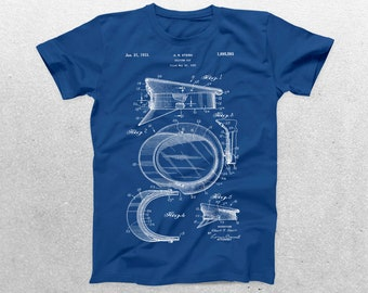 Police Hat Patent T-Shirt, Police Hat Blueprint, Patent Print T-Shirt, Policeman Shirt, Gifts for Police Officers p699