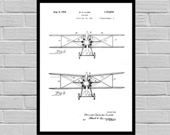 Airplane Decor Airplane Art Airplane Print Aviation Decor Airplane Patent Aviation Art Aviation Art Pilot Gift p357