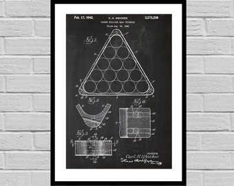 Billiard Table Print, Billiard Table Patent, Billiards, Pool Table, Billiard Art, Billiards Blueprint, Pool hall art, pool table 2P28