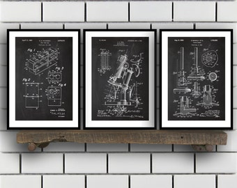 Chemistry Patents Set of 3 Prints, Chemistry Prints, Chemistry Posters, Chemistry Blueprints, Chemistry Art, Chemistry Wall Art Sp311