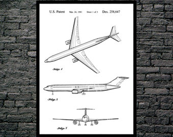 Aviation Patent, Airplane Decor, Airplane Art, Airplane Print, Airplane Patent, Aviation Gifts, Aviation Art, Aviation Wall Poster p1087