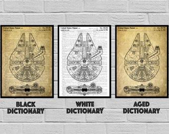 Star Wars patent, Patent art, Star Wars Poster, Millennium Falcon Star Wars Patent, Millennium Falcon Star Wars Print, Millennium Falconp933