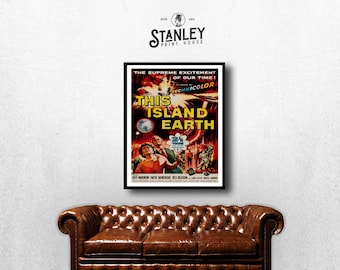 MOVIE poster vintage This Island Earth Classic Horror space poster Poster Art Vintage Print Art Home Decor movie poster Alien Sci Fi sp610