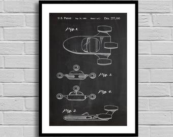 Star Wars Patent Patent Poster star wars Blueprint Land Speeder Print Star Wars Decor Sci Fi Movie Decor patent prints patents p935