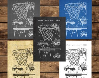 INSTANT DOWNLOAD - Basketball Hoop Print, Basketball Poster, Basketball Patent, Basketball Decor, Basketball Art, Vintage Basketball Goal