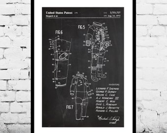 Space Suit Patent, Space Suit Poster, Space Suit Print, Space Suit Decor, Space Suit, Space Suit Blueprint, Space Suit Wall Art p1163