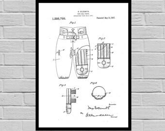 Football Pants Patent, Football Print, Football Poster, Football Mom, Football Art, Football Wall Art, Football Patent, Football Art p798