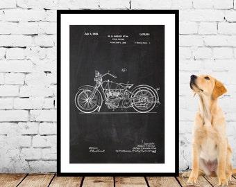 Harley Davidson Motorcycle Blueprint Patent Poster, Wall Art Poster, Harley Motorcycle Print, Wall Art Poster, Patent prints, Harley p1131