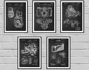 Camera Patent SET of 5 Vintage Camera Patent Vintage Camera Print Vintage Camera Vintage Camera Decor Camera Blueprint Camera sp424