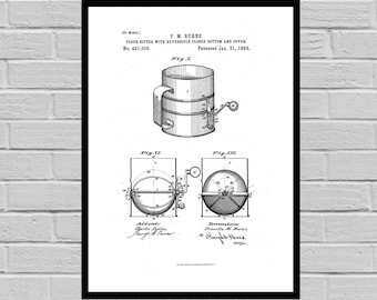Kitchen Flour Sifter Poster Flour Sifter Poster Flour Sifter Patent Kitchen Flour Sifter Print Flour Sifter Print SP94