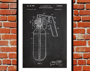 Fire Extinguisher Patent Fire Extinguisher Poster Fire Extinguisher Print Fire Extinguisher Art Fire Extinguisher Decor p553