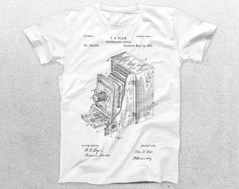 Photographic Camera Patent T-Shirt, Camera Blueprint, Patent Print T-Shirt, Photographer gift, Vintage art, Photography p481