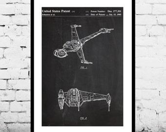 Star wars patent X Wing Star Wars Poster X Wing Star Wars Patent X Wing Star Wars Print B Wing Star Wars Art X Wing Star Wars B Wing p930