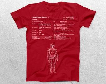 Star Wars Boba Fett Patent T-Shirt, Star Wars Blueprint, Patent Print T-Shirt,nerdy gift, Star Wars Gift, Star Wars Tee p938
