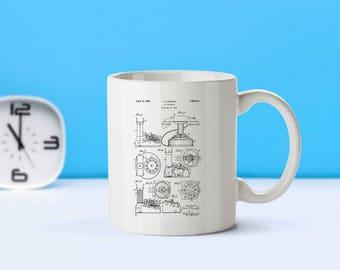 Toy Telephone patent mug  coffee mug  coffee lover  patent art  patent mug  Toy Collectible Toy Decor Vintage ToysToy Phone MugM288