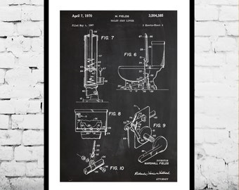 Toilet Patent Bathroom Patent Toilet Poster Bathroom Poster Toilet Blueprint  Toilet Print Toilet Art Toilet Decor Bathroom Decor p1065