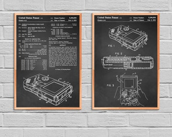 Game Boy Nintendo Poster Game Boy Nintendo Patent Game Boy Nintendo Print Game Boy Nintendo Art Game Boy Nintendo Decor Gameboy Gamer 2P54