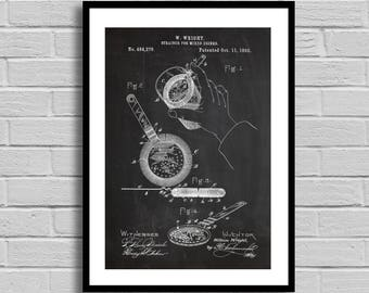 Drink Strainer Patent Drink Strainer Patent Poster Drink Strainer Blueprint Drink Strainer Print Bar Decor Vintage Restaurant Decor p1001