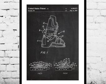Ski Boots Patent, Ski Boots  Poster, Ski Boots  Blueprint, Ski Boots Print, Ski Boots Art, Ski Boots Decor p268