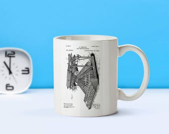 Typewriting Machine patent mug  coffee mug  coffee lover  patent art  patent mug  TypewriterVintageWriter's GiftTeacher's GiftM300