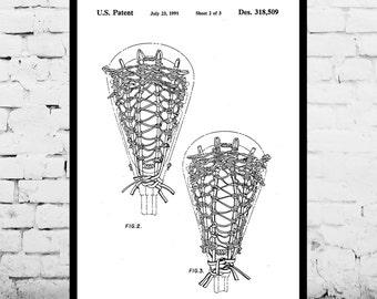 Lacrosse Stick Print, Lacrosse Stick Poster, Lacrosse Stick Patent, Lacrosse Stick Art, Lacrosse Stick Decor, Lacrosse Stick Wall Art p013