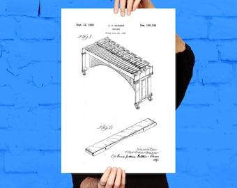 Marimba Print, Marimba Poster, Marimba Patent, Marimba Decor, Marimba Wall Art, Marimba Blueprint, Marimba Art p202