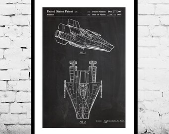 Star Wars A Wing Patent Star Wars A Wing Poster Star Wars A Wing Print Star Wars A Wing Art Star Wars A Wing Decor p924