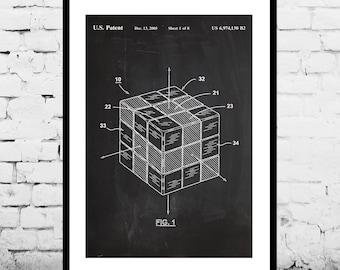 Patent Print - Rubik's Cube Patent Art Poster, Rubik's Cube art, Rubik's Cube poster, Rubik's Cube Print p1205