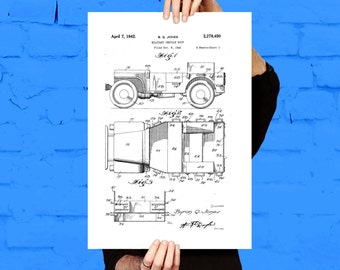 Willy's Jeep Print, Willy's Jeep Poster, Willy's Jeep Art, Willy's Jeep Patent, Willy's Jeep Blueprint, Willy's Jeep Wall Art p1174