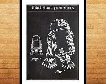 Star Wars R2D2 Droid Patent Star Wars R2D2 Droid Poster Star wars r2d2 Star wars poster Star wars art p1408