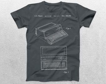 Apple Computer Patent T-Shirt, Macintosh Computer Blueprint, Patent Print T-Shirt, Technology Shirt, Computer Programmer p450