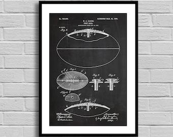 Football Patent, Football Patent Poster, Football Blueprint, Football Print, Football Decor, Vintage, Coach Gift, Athlete Gift, Sports p800