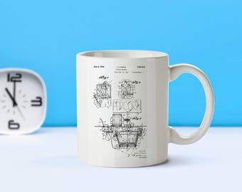 Popcorn Machine patent mug  coffee mug  coffee lover  patent art  patent mug  Movie Theater Decor Vintage Home DecorM119