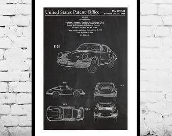 Porsche  Patent, Porsche Poster, Porsche Print, Porsche Art, Porsche Decor, Porsche Blueprint, Porsche Old Wall Art p1111