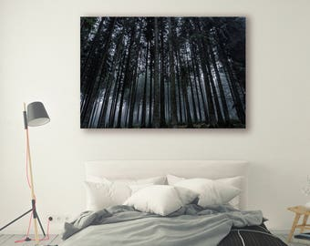 Nature Print Large Wall Art Print Thick Forest Fine Art Photography Print Nature Photography Neutral Wall Decor Mountain Forest PH036