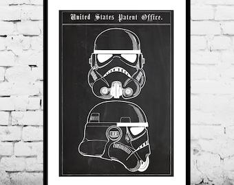 Star Wars Stormtrooper Toy Helmet Decor Star Wars Patent Print Poster Star Wars Wall Decor Star Wars Art p1418