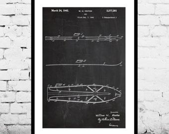 Skis Patent, Skis Poster, Skis Print, Ski Art, Skis Decor, Skis Wall Art, Skis Blueprint, Skiing p862