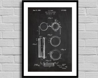 Lens Fitting Attachment Patent Lens Attachment Patent Poster Lens Attachment Blueprint Lens Attachment Print EyeglassesOptometrist Gift p637