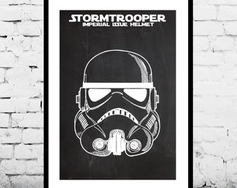 Star Wars Stormtrooper Patent Star Wars Stormtrooper Poster Star Wars Stormtrooper Print Star Wars Stormtrooper Decor Stormtrooper Art