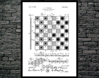 Checkerboard Patent, Checkerboard Poster, Checkerboard Blueprint, Checkerboard Print, Checkerboard Art, Checkerboard Decor p1190