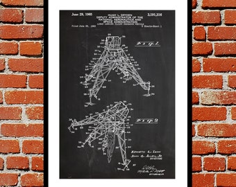 Lunar Landing Vehicle Print, Lunar Landing Vehicle Poster, Moon Landing Patent, Moon Landing Decor,Lunar Landing Vehicle Blueprint Art p1139