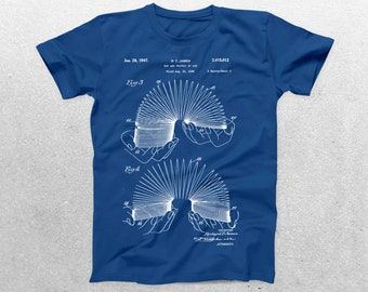 Slinky Patent T-Shirt, Slinky Blueprint, Patent Print T-Shirt, Slinky Shirt, Vintage Toy, Hipster T-Shirt, Unique Gifts p1214