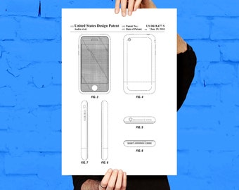 iPhone iOS Software Patent iPhone iOS Software Poster iPhone Blueprint iPhone Print iPhone Art iPhone Decor p625