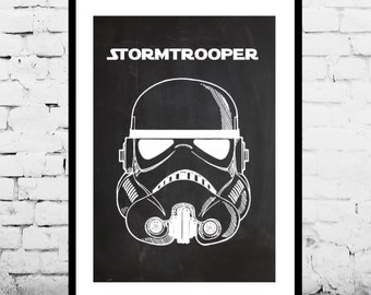 Star Wars Stormtrooper Toy Helmet Decor Star Wars Patent Print Poster Wall Decor Star Wars Art p1423