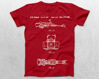 Star Wars Hover Bike Patent T-Shirt, Hoverbike Blueprint,Patent Print T-Shirt, Star Wars, Star Wars Gift, Nerdy Gift p1385